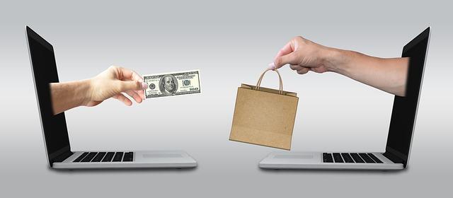 nákup přes počítač