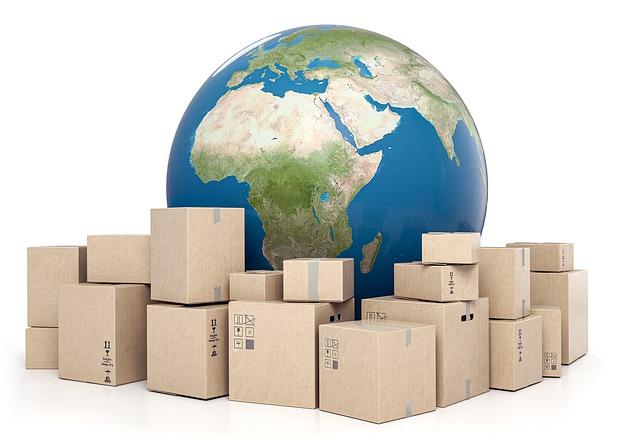 balíky kolem zeměkoule