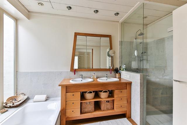 koupelna se dřevem