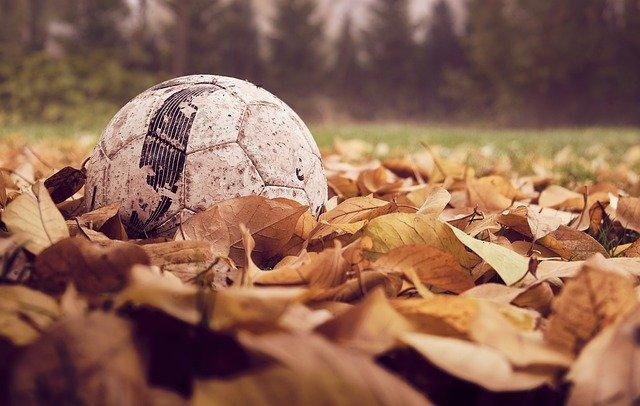 míč v listí